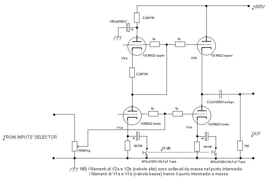 tube line preamplifier circuit - diyAudio